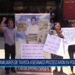 Chiclayo : Familiares de taxista asesinado protestaron en el Poder Judicial
