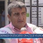 Chiclayo : Gobernador en desacuerdo con actos de violencia en olmos