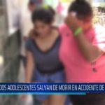Chiclayo: Dos adolescentes salvan de morir en accidente de tránsito