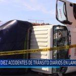 Chiclayo: Diez accidentes de tránsito diarios en Lambayeque