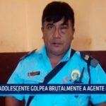Adolescente golpea brutalmente a agente municipal
