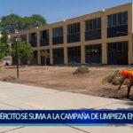 Piura: Ejército se suma a la campaña de limpieza en centros educativos