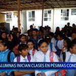 Piura: Alumnas inician clases en pésimas condiciones