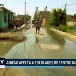 Chimbote : Aniego afecta a escolares de centro inicial