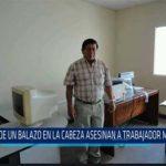 Chiclayo: De un balazo en la cabeza asesinan a trabajador municipal