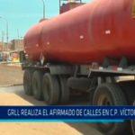 GRLL realiza el trabajo de afirmado de calles C.P. Víctor Raúl