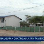 Piura: Inauguran cuatro aulas en Tambogrande