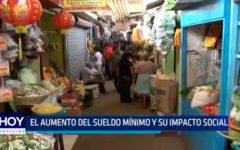 El Aumento de sueldo mínimo y su impacto social