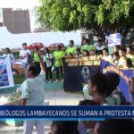 Chiclayo: Biólogos Lambayecanos se suman a protesta nacional