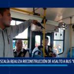 """Fiscalía realiza reconstrucción de asalto a bus """"El Cortijo"""""""
