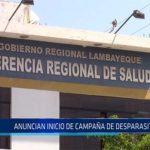 Chiclayo: Anuncian inicio de campaña de desparasitación