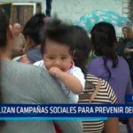 Realizan campañas sociales para prevenir delitos