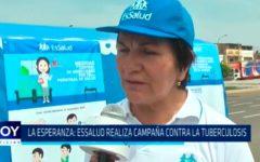 EsSalud realiza campaña contra la tuberculosis