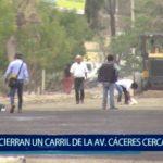Piura: Cierran un carril de la Av. Cáceres cerca a empresa Eppo
