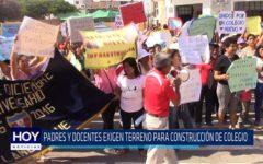 Chiclayo. Padres y docentes exigen terreno para construcción de colegio