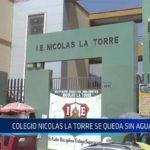 Chiclayo: Colegio Nicolás la Torre se queda sin agua potable