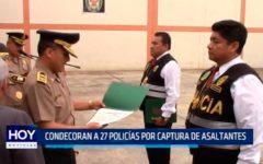 Condecoran a 27 policías por captura de asaltantes