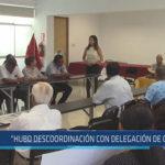 Chiclayo : Hubo descoordinación con delegación de Olmos