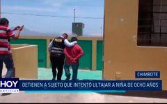 Chimbote: Detienen a sujeto que intentó ultrajar a niña de ocho años