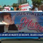 Tras un mes de muerte de docente deudos exigen justicia