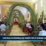 Chimbote: Con misa en domingo de ramos inició semana santa
