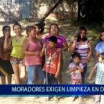 Piura: Moradores exigen limpieza en dren