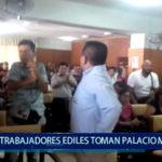 Piura: Trabajadores ediles toman palacio municipal