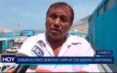Chimbote: Embarcaciones deberán cumplir con normas sanitarias