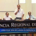 Chiclayo: Lambayeque será declarada en emergencia sanitaria