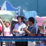 Chiclayo: Pobladores de ciudad Eten protestan en sede de Epsel