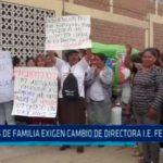 Padres de familia exigen cambio de directora I.E. Fe y Alegría