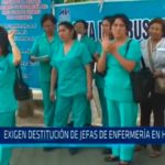 Exigen destitución de jefas de enfermería en HRDT