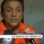Firmaron acta de compromiso club UCV, Mannucci, IPD y Defensa Civil