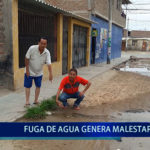 Piura: Fuga de agua genera malestar