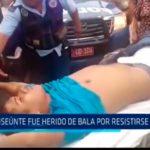Transeúnte fue herido de bala por resistirse a robo
