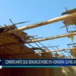 Chimbote:  Vidriería sufre atentado