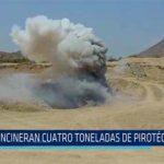 Chiclayo: Incineran cuatro toneladas de pirotécnicos