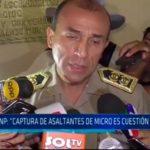 """Jefe PNP: """"Captura de asaltantes de micro es cuestión de horas"""""""