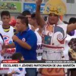 Escolares y jóvenes participaron de una maratón