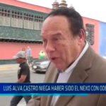 Luis Alva Castro niega haber sido el nexo con ODEBRECHT