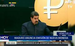 Venezuela: Maduro anuncia emisión de nueva moneda