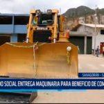 Fondo social entrega maquinaria para beneficio de comunidades