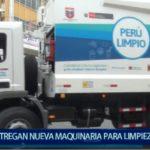 Piura: Minam entrega nueva maquinaria para limpieza pública