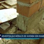 Chimbote: Advierten que módulos de vivienda no inhabitables