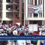Chiclayo: Moshoqueque marcho contra nuevo reglamento de mercados