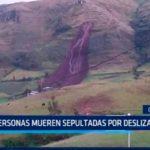Cinco personas mueren sepultadas por deslizamiento