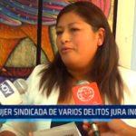 Mujer sindicada de varios delitos jura inocencia