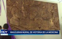 Inauguran mural de historia de la medicina