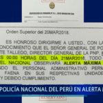 Piura: Policía Nacional del Perú en alerta máxima