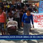 Piura: Damnificados protestan para exigir obras